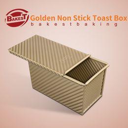 Wholesale Golden Dishes - Wholesale- BAKEST 450g Aluminum Alloy Golden Toast Bread Loaf Pan Non Stick Cake Baking Mold
