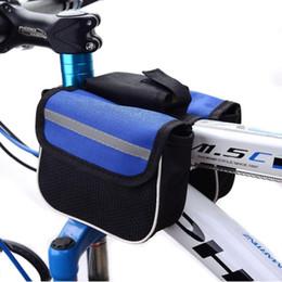красный m мобильный Скидка 2015 водонепроницаемый 3 цвета двойные стороны седло Велоспорт MTB велосипед сумки спортивная рама передняя трубка велосипед сумка для Ourdoor Велоспорт B055