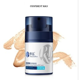Wholesale Whitening Cream For Freckles - BB Cream for Men 50g Face Concealer Cream Foundation Brightening Moisturizing Beauty Makeup for Boy Office men 100 Pieces lot