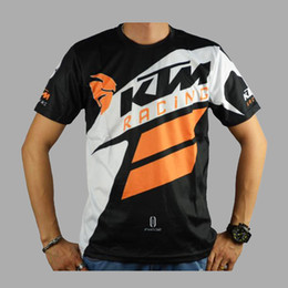 Wholesale Polyester Motocross - 2017 New Arrival Men's Casual KTM Motorcycle T Shirt Jersey Short Sleeve Airline Jersey Motocross DH Downhill MX MTB Breathable Off-Road XXL
