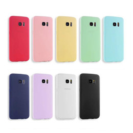 Wholesale Ice Blue Iphone Case - Ultra Thin Frosted TPU Case For iPhone 5 5S 6 6S Plus Samsung S6 S7 Edge NOTE 4 5 A3 A5 A7 2016 Soft Gel Ice Cream Candy Color Cover DHL