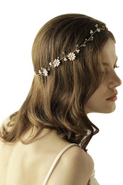 Wholesale bohemian hair styles - 2017 Fashion Bridal Wedding Tiaras Stunning Gold Alloy Bridal Jewelry Accessories Hair Headpieces Bohemian Styles CPA891