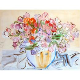 Wholesale Flower Vases Oil Painting - Vase de Pois de Senteur by Raoul Dufy Oil Painting modern flower art High quality Hand painted