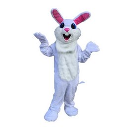 Wholesale Adult Mascot Costume Bunny - White Easter Bunny Monster Mascot Costumes Cartoon Character Adult Sz 100% Real Picture