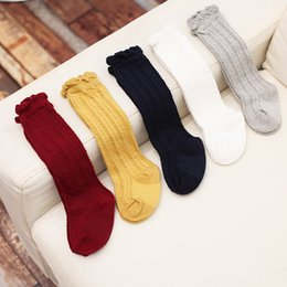 Wholesale Wholesale Clothes For Toddlers - 2017 Newborn Toddler knee high sock baby Girls Boys Solid Long Socks For Toddler Girl Clothing Accessories