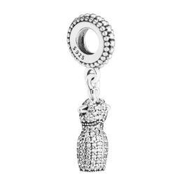 2017 Día de la Madre Perlas de Plata DIY Fit Pandora pulseras Auténtica 925 Joyas de Plata de ley Encantos Clear CZ falda envío gratis 1 pc / lote desde fabricantes