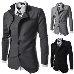 Wholesale Stylish Casual Jacket Men Brands - New Brand British Style Slim Men Suits Mens Stylish Design Blazer Casual Business Fashion Jacket free shipping