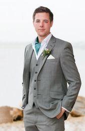 Wholesale Cheap Wool Pants - Wholesale- Custom made Best Dark gray Fresh Wool Suit Cheap Men Suits Fashion man Suits Wedding Groom Tuxedos Blazers(jacket+pant+vst+tie)