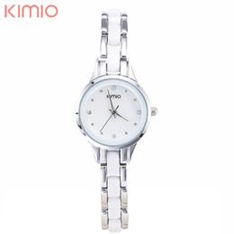 Wholesale Kimio Brand For Watch - atches for women brand KIMIO Fashion Brand Quartz Waterproof Bracelet Watch For Women Rhinestone Alloy Band Wrist Watch Relogio Feminino...