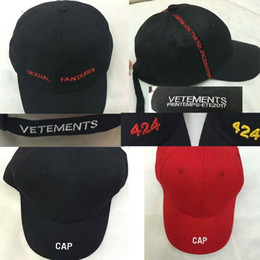 Wholesale Korean Army - 2017 Best version Korean hiphop men women snapback Baseball Cap gosha Rubchinskiy 424 vetements Embroidery letter Baseball Hat