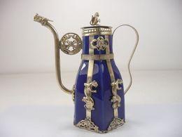 Bule Oriental Macaco Vintage Dragão Porcelana Prata supplier dragon teapots de Fornecedores de teatros dragão