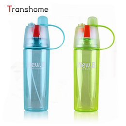 Wholesale Bicycle Bottle Sports - Wholesale- TRANSHOME My Water Plastic Bottles Sports Spray Water Bottle for Outdoor Bicycle Cycling Drinkingware sets Bpa Free 400ml 600ml