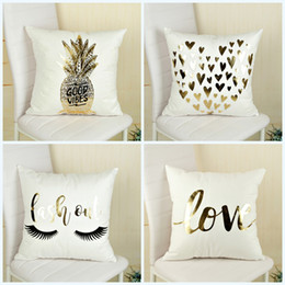 Wholesale Pineapple Cover - Cushion Cover Creative Pineapple Printing Pillow Case For Home Sofa Decor Pillowslip Comfortable Many Styles 8 5hm C R