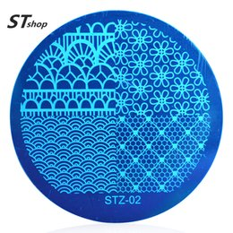Wholesale Lace Stamps - Wholesale- 1pcs Flower Lace Fashion Style Nail Art Stamp Template Image Plate Nail Stamping Plate Manicure Tools STZA02
