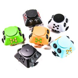 Wholesale Cubed Function - 2017 Magic Fidget Spinner Cube Anti-anxiety Decompression Toy Multi Function Adults Stress Relief Kids Toy Gift Free Shipment