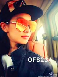 Wholesale Fashion Desinger - new women brand desinger sunglasses 5229 fashion women sunglasses rimless coating lens butterfly frame UV400 lens original case
