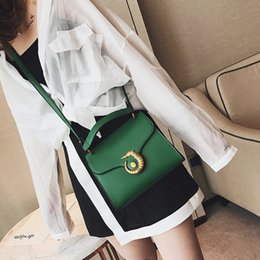 Wholesale Leather Horse Handbag - Brand new women leather bags Plain Shoulder bags with Alloy sea horse Small Phone Handbags Party Clutch Totes Cross body Bags