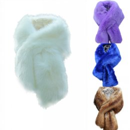 Wholesale Cheap Bridal Wraps For Winter - 2016 New Bridal Wraps Colorful Faux Fur Shawl Women Winter Wrap For Girl Prom Cocktail Homecoming Party Cheap In Stock