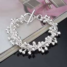 Wholesale Wholesale Price Grapes - Wholesale - High quality New Retail lowest price Christmas gift, free shipping, new 925 silver fashion grapes Bracelet
