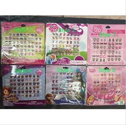 Wholesale sticker sheets girls - 10 sheets Girl Jewellery Accessories Sticky Earring Stickers Gems 24 Pairs Sheet