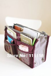 Wholesale Sets Traveling Bags - 500 PCS Luggage Travel Dual Nylon Bags Handbag, Multi New Storage Organizer Set Traveling Bag in Bag Beautician Neatly Collect 161229#