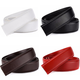 Wholesale Men S Body Belt - 5 Color No Buckle Designer Mens Belts Body 3.5cm Wide Cowskin Genuine Leather High Quality Men Automatic Belt Body Kemer White