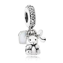 Wholesale Metal Baby Charms - 925 Sterling Silver Bead Charm Baby Treasures & A pacifier With Crystal Pendant Beads Fit Pandora Bracelet Bangle DIY Jewelry