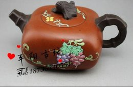 Wholesale Famous Art Drawings - Yixing famous handmade special offer authentic teapot Yixing teapot art Lingshou pot