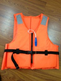 kostenlose schwimmwesten Rabatt Marine-Schwimmwesteschwimmweste-Schwimmweste des Fachmann-SOLAS schwimmender Fachmann-orange Schaum SwimmingFlood-Schwimmweste mit Pfeife Freies Verschiffen