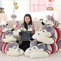 Wholesale Husky Toys - 55 CM 70cm 100cm Kawaii Simulation Husky Dog Plush Toy Gift For Kids Stuffed Plush Toy