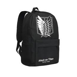 Attaque sur sac à dos Titan pour sac à bandoulière sac à dos pour garçons et filles Wing of Liberty pour adolescents Mochila Oxford Bag ? partir de fabricateur