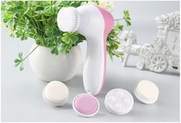 Wholesale Multifunction Face Massager - AE-8782 5 in 1 Beauty Care Massager homeuse Facial Cleaning Brush Multifunction Electric Face Cleansing Brush Spa Skin Face Cleaner Scrubber