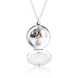 "Wholesale Wholesale Thick Silver Chains - Locket Pendant Necklace 925 Sterling Silver Round Shape 1.7mm Thick Fashion Accessories You Can Put Photos Christmas Gift 18"" inch XL000466"