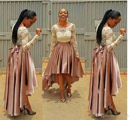Wholesale Bella Green Dress - Pretty High Low Pink Prom Dress bella naija Bridesmaid Dresses 2017 wedding guest Dresses Long Sleeve wedding dresses bridal gowns Plus Size
