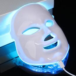 led-geräte Rabatt Masken schält 7 Farben Photodynamische LED Gesichtsmaske-Haut-Verjüngungs-elektrisches Gerät Anti-Alterngesichtsmaske-Maschinen-Therapie-Schönheits-Maschine