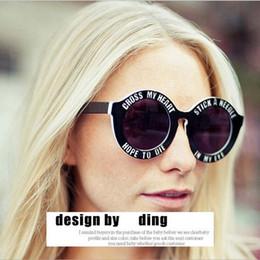 Wholesale Mirrors House - Wholesale-New Fashion Brand Designer Funny Oversized Round Sunglasses Unisex Cross My Heart Sunglasses Holland House punk sun glasses