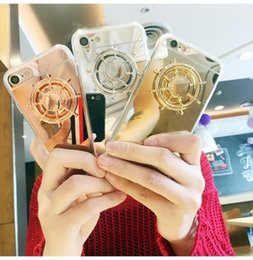 Wholesale Fingertips Iphone - Hot On sale 2017 Fingertip gyro Phone case for iphone 6s fashion mirror 2in1 cases for iphone 6 plus phone cases Free shipping
