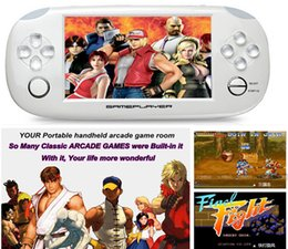 Wholesale Games Mp5 Touch - 8GB Game Console Touch Screen 4.3 Inch MP4 MP5 Players Handheld Game Player Free Games FM 1.3 MP Camera