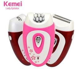 Kemei207 Nuevo 3 en 1 Mujeres Afeitar Dispositivo de Lana Cuchillo Máquina  de Afeitar Eléctrica Depiladora de Lana Afeitadora de la Señora Cuidado  Femenino ... 6003b8aebd8d