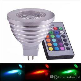Wholesale Mr16 Bulb Life - NEW Arrival RGB LED Lamp MR16 4W 8-24V Long Life Span LED RGB Bulb Spot Light with IR Retome 16 Beautiful Color Changing