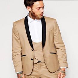 2017 The Latest Groom Suits Tuxedos Black Lapel Men Wedding Suits ...