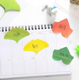 Wholesale Notepads Designs - Wholesale- 1pack lot Kawaii Vivid Leaves design Notepad Sticky note Notepads Memopad Writing scratch pad kawaii gift office school supplies