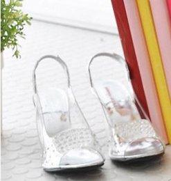 Semelles compensées peep toe en Ligne-Livraison Gratuite-2017 Livraison Gratuite De Mode Sexy Chaussure Chaussures Mules En Verre Jelly Chaussures transparent cristal Sandale Peep Toes Wedges Sandales