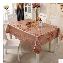 Wholesale Patterned Table Cloth - 2017 New PASAYIONE Waterproof Table Cloth With Flower Pattern Thick PVC Waterproof Wipe Clean Table Cover Protector Home Textile