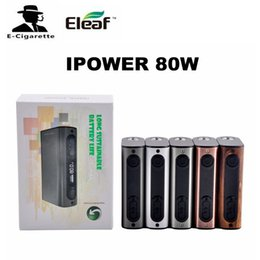 Wholesale Upgrade Smart Box - Authentic Eleaf iPower 80W Box Mod Firmware Upgraded 5000mah Vape Mods Support VW Bypass Smart TC Modes Vs Tesla Invader 3 E Cigs