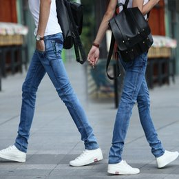 Wholesale Wholesale Man Jeans - Wholesale-2016 men jeans fashion, cultivate one's morality and feet Stretch breathable light denim trousers