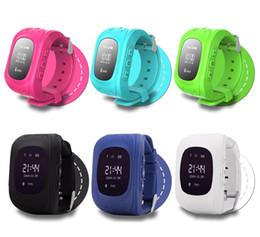 Wholesale Watches Double Dials - q50 kids smart watch kids tracker watch phone tracker smart wrist watch 6 colors LBS + AGPS double location