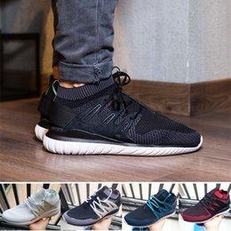 Wholesale Nova Fabrics - 2017 Originals Tubular Nova Pack Primeknit MensC Running Shoes PK x Y3 Sock Ultra White Black Boost Trainers Snakers Shoes US5-11