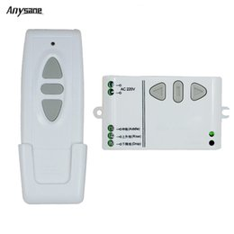 Wholesale Rf Control Systems - Wholesale- Anysane wireless remote control Shutter curtain radio control system AC220V rf remote controller and manual control for up down