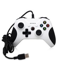 controladores de juego joysticks para pc Rebajas Barato 20pcs controlador de juegos Gamepad USB con cable Control de juegos PC Joypad Joystick Accesorio para Xbox One Slim S Controlador de juegos Ordenador portátil